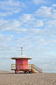 Miami Beach Florida, lifeguard house in early morning