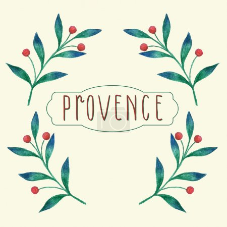 Watercolor floral background with provence theme