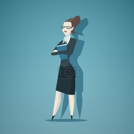Business woman vector isolated