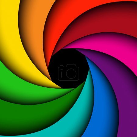 Illustration for Colorful rainbow swirl, Abstract color background - Royalty Free Image