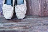 Staré boty na pozadí