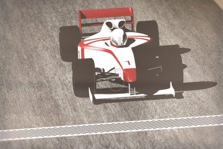 Formula 1 - Indy Race Type Car on Race Course