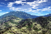 Deforestation Aerial 3D artwork