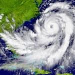 Huge hurricane over Florida and Cuba. Elements of ...