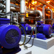 Electric motors of pumps at plant...