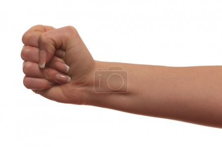 Photo for Fist hand, isolated on white background - Royalty Free Image