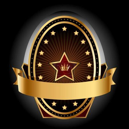 Gold insignia