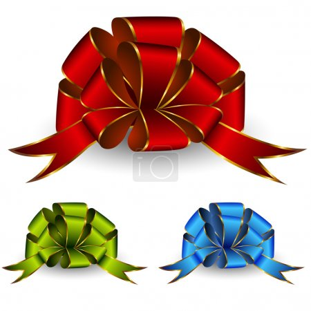 Illustration for Collection of celebratory bows - Royalty Free Image