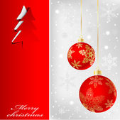 Illustration of banner with a christmas background Vector