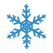 Snowflake isolated on white background Vector illustration