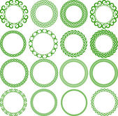 Set of decorative round frame