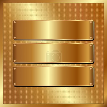Illustration for Golden background with copy space - Royalty Free Image