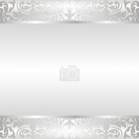 Illustration for Shine background with ornaments - Royalty Free Image
