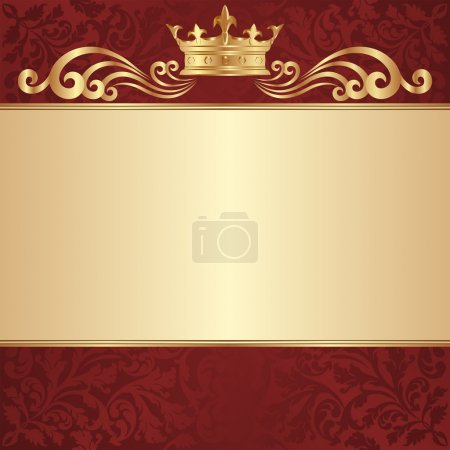 Illustration for Royal background with golden crown - Royalty Free Image