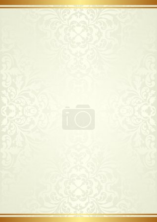 Illustration for Beige background with gold ornaments - Royalty Free Image