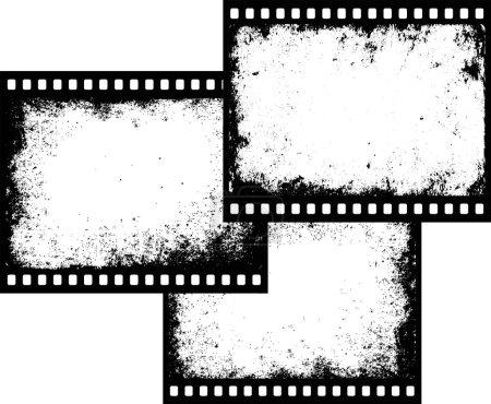 Three film frames