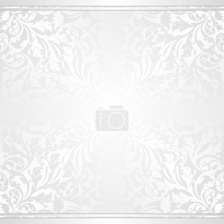Illustration for White background with abstract ornaments - Royalty Free Image