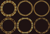 Set of golden round frames