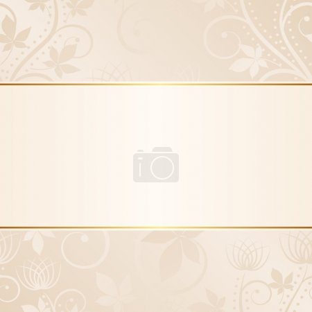 Illustration for Beige background with floral ornaments - Royalty Free Image