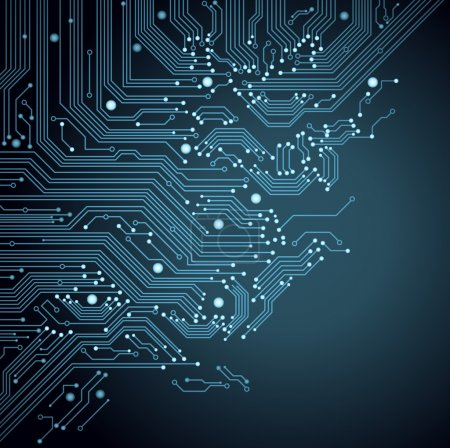 Illustration for Abstract vector background with high tech circuit board - Royalty Free Image