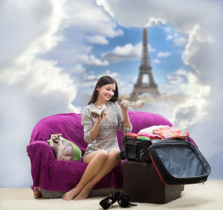 Girl going to Paris