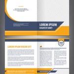 Vector empty brochure template design with orange ...