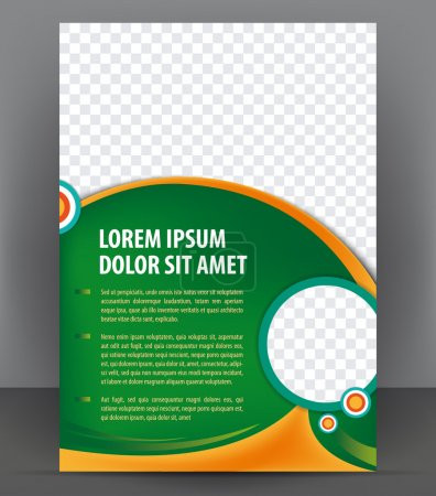 Illustration for Vector brochure, flyer, magazine, poster and cover empty template - Royalty Free Image