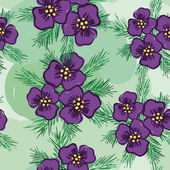Background with violets