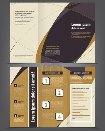Illustration for Trifold business brochure template - Royalty Free Image