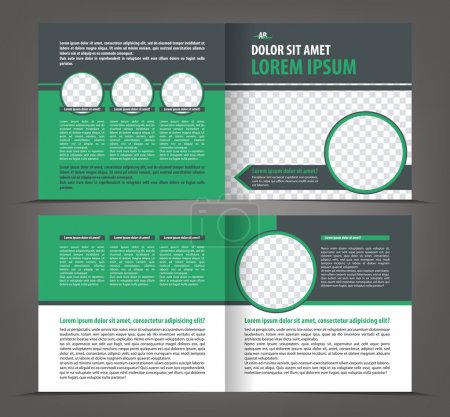 Empty brochure print template design