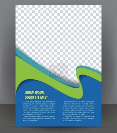 Illustration for Magazine, flyer, brochure and cover layout design template, vector Illustration - Royalty Free Image