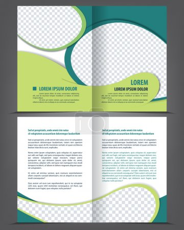 Vector empty bi-fold brochure print template design