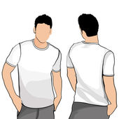 T-shirt men back and front.