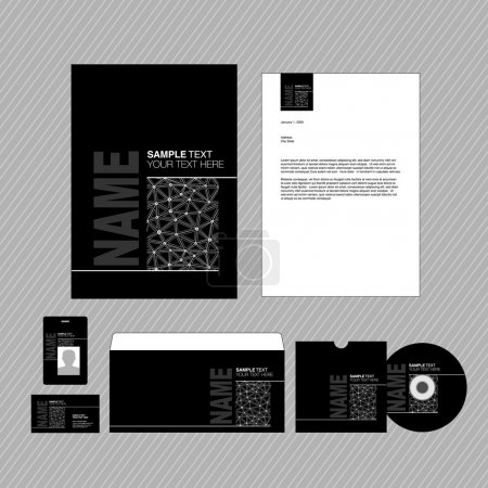 Business identity template.