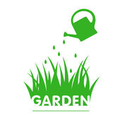 Garden sign wih grass