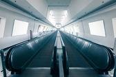 escalator in airport