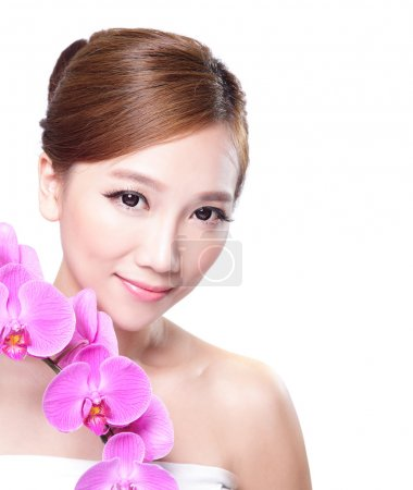 Face with orchids