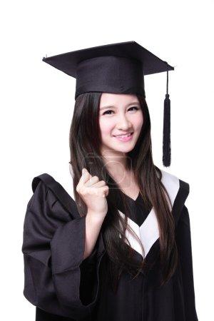success Woman graduate student