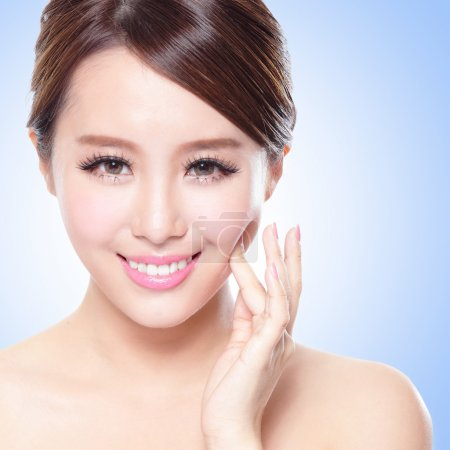 attractive Skin care woman face