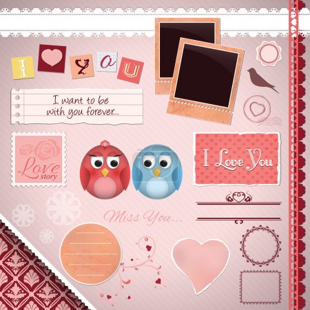 Scrapbooking Set: I love you