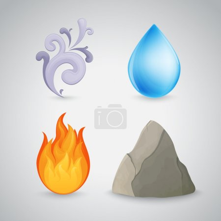 Four element - earth, air, fire and water
