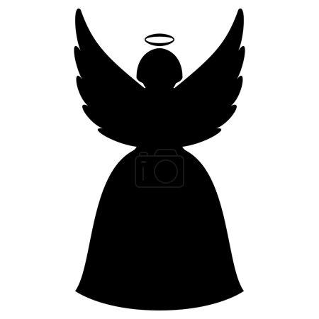 Illustration pour Silhouette de Noël ange - image libre de droit