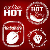 Extra hot pepper labels