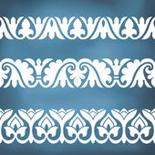 Seamless floral tiling border