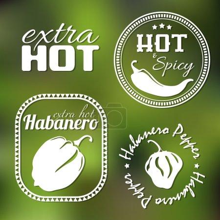 Extra hot pepper labels