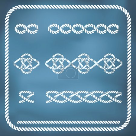 Illustration for Decorative seamless nautical rope knots. Gradient mesh - Royalty Free Image