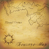 Old treasure map with hand drawn elements Illustration contains gradient mesh