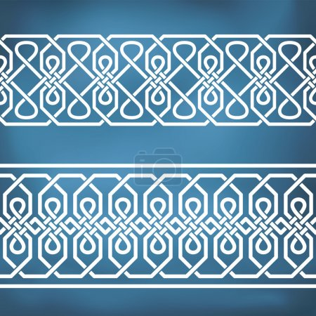 Seamless geometric tiling borders