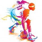Basketball player. Vector illustration....
