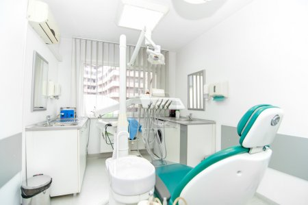 Dental clinic interior design with working tools and professional equipment